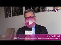 Bürgerbegehren bringt Politiker zum Nachdenken | FBB-Chef Martin Ernst