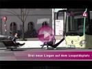 Drei Liegestühle warten auf Besucheransturm in Baden-Baden – OB Mergen zur kleinen Öffnung auf dem Leo