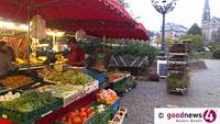 Wochenmarkt in Lichtental schon am Gründonnerstag