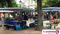 Kein Wochenmarkt am Pfingstmontag auf Augustaplatz