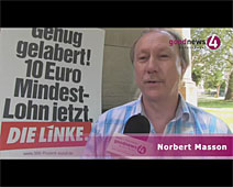 Linke-Bundestagskandidat Norbert Masson im goodnews4-Interview