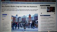 """In Russland entsteht ein neues Baden-Baden - """"Wladimir Putin gab dem Projekt seine Zustimmung"""" - """"110 Millionen Euro in der Anfangsphase"""""""