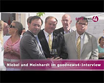 Niebel und Meinhardt im goodnews4-VIDEO-Interview