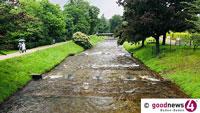 Baden-Baden von Unwettern verschont – Die Oos plätschert friedlich vor sich hin