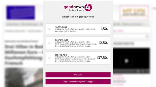 Neue goodnews4-Paywall ab heute – Endlich ist es geschafft