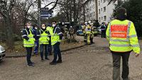"""""""Explosion angekündigt"""" – Verkehr in Baden-Oos eingeschränkt – Gebäude weiträumig umstellt"""