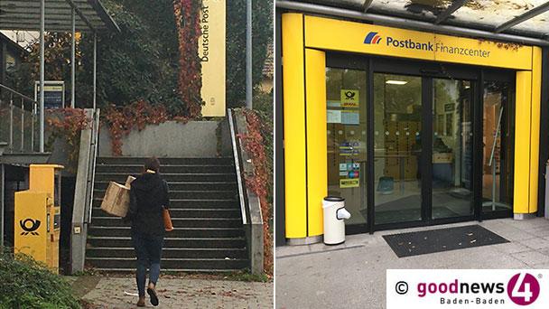 Postbank-Filiale Baden-Oos schließt im August – Nächste Filiale in der Innenstadt