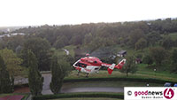 Rettungshubschrauber in Neuweier – Nach Arbeitsunfall in Spezialklinik