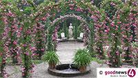 """OB Mergen eröffnete Baden-Badener Rosengarten – Im Garten ein Corona- """"Einbahnstraßensystem"""" ausgeschildert"""