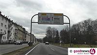 Gefahr von oben am Zubringer - Zeitweilige Vollsperrung der Hauptverkehrsader Baden-Badens - Verkehrszeichenbrücken müssen abgebaut werden