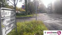 Rot markierter Schutzstreifen für Radfahrer in der Schwarzwaldstraße - Umbaumaßnahmen beginnen am Dienstag