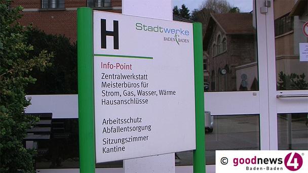 Einige Häuser Baden-Badener Innenstadt ohne Trinkwasser - Wasserrohrbruch und Straßensperrung in der Bertholdstraße