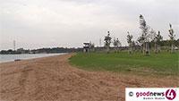 """Strandbad Sandweier eröffnet – """"Maximal 500 Badegäste"""" – Eintritt nur mit Reservierung"""