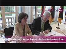 SWR-Staatsvertrag in Baden-Baden unterzeichnet