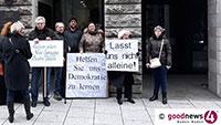 "Friedliche Kundgebung des ""Aktionskreis Neue Synagoge Baden-Baden"" vor dem Kultusministerium in Stuttgart"