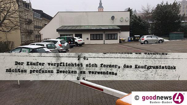 """Verpflichtung der Eigentümer des alten Baden-Badener Synagogengrundstücks im Kaufvertrag entdeckt - """"Nicht zu profanen Zwecken zu verwenden"""""""