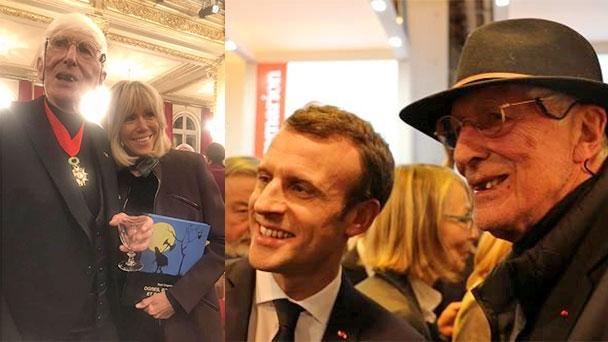 """Tomi Ungerer von Emmanuel Macron in Paris geehrt - """"Insignes de Commandeur de la Légion d'Honneur"""" - Auch mit Baden-Baden verbunden"""
