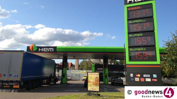 Nach Ölpreiseinbruch sausen Benzinpreise auch in Baden-Baden nach unten – 17 Cent günstiger