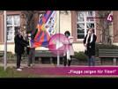 Tibet-Flagge weht über Baden-Baden | Margret Mergen, Ralf Bauer, Marc Marshall