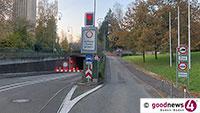 Michaelstunnel am Donnerstag vor Weihnachten gesperrt