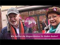 Abgeordnete in Baden-Baden kaum bekannt | goodnews4-VIDEO-Umfrage