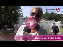 Die Schulnote der Baden-Badener für Angela Merkel   goodnews4-Umfrage