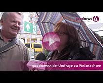 Politische Themen unterm Weihnachtsbaum tabu | goodnews4-VIDEO-Umfrage