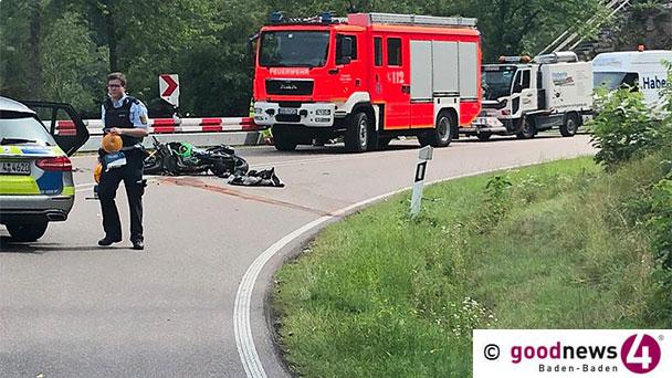 Drei Schwerverletzte bei Motorradunfall in Baden-Baden – Kollision auf Schwarzwaldhochstraße – In Kurve auf Gegenfahrbahn gefahren
