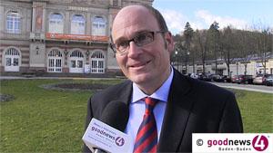 OB-Kandidat Volker Pilz am Klosterplatz Lichtental und am Berhardusplatz in der Weststadt