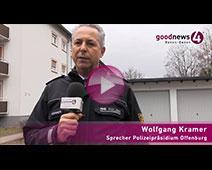 Großeinsatz in Baden-Oos beendet | Polizeisprecher Wolfgang Kramer