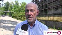 """Protest gegen Neues Schloss - """"Aus fünf Geschossen sollen sieben Geschossebenen"""" werden - Stadtbild-Vorsitzender Niedermeyers Sorge um Baden-Badener Quellen: """"Gravierende Ungewissheit"""""""