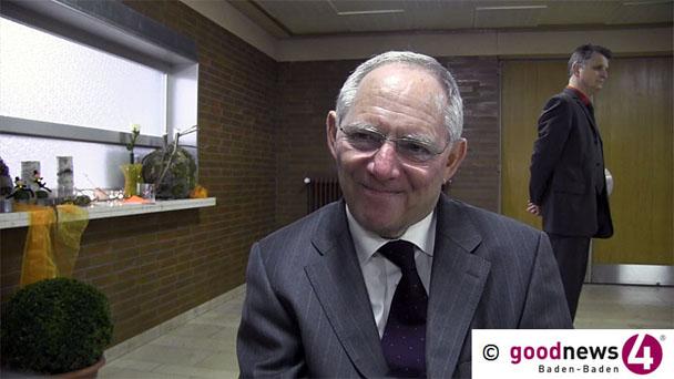 Wolfgang Schäuble Schirmherr für schwer verunglückten Student - Benefiz-Gala für Robin Bolz in Loffenau