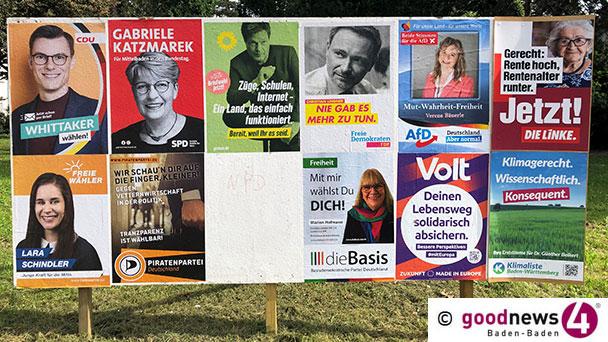 Ab 18.00 Uhr Ergebnisse und Interviews zu Bundestagswahl und Bürgerentscheid in Baden-Baden – goodnews4-Livestream aus dem Rathaus