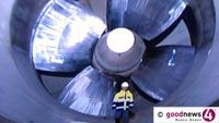 """Iffezheimer Staustufe heute von 11 bis 17 Uhr für Öffentlichkeit geöffnet - EnBW-Chef Mastiaux gibt sich regenerativ: """"Seit über hundert Jahren ist Wasserkraft das Fundament der erneuerbare Energieerzeugung bei EnBW"""""""