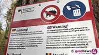 Drohende Afrikanische Schweinepest - Besorgniserregende Zunahme der Wildscheine