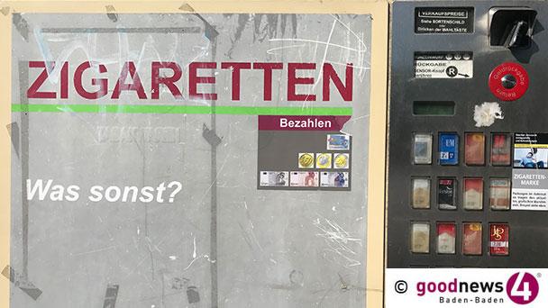 Kurz mal Zigaretten holen – Zigarettenautomat in Sinzheimer Hauptstraße aus Wand gebrochen – Citroen mit französischem Kennzeichen